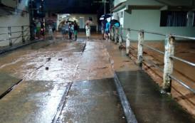 Bairros de Alegre são afetados pela chuva forte