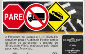 Audiência pública discute novas regras para o trânsito de Guaçuí