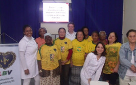 LBV realiza palestra educativa com idosas sobre prevenção ao diabetes