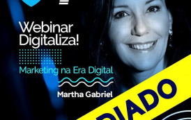 "Sebrae/ES informa que a webinar ""Marketing na Era Digital"" foi adiada."