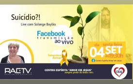 Solange Baylão fala sobre suicídio hoje (04/09) às 19:30h ao vivo no Facebook do CEAJ