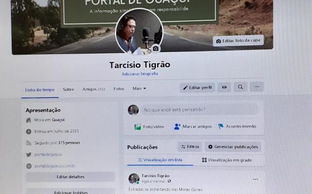 Lives com Tarcísio Tigrão, colocam o eleitor melhor informado na grande rede.