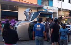 Acidente na Rua Rio Grande do Norte no fim de tarde em Guaçuí-ES.