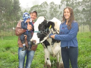 Marcelo e sua família cuidam diariamente do sítio.