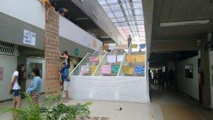 Estudantes ocuparam o Campus na manhã desta quinta-feira.